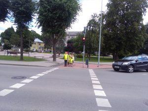 Alytaus miesto bendruomenės centro mažieji lankytojai mokėsi būti ne tik saugūs, bet ir mandagūs kelyje